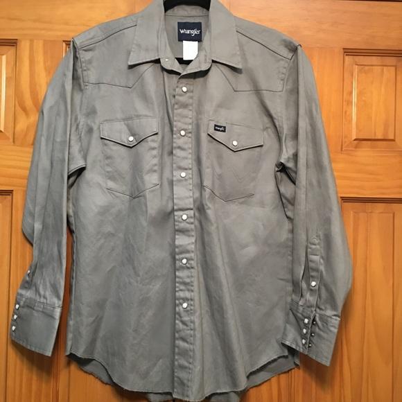 Wrangler Other - Wrangler Heavyweight 100% Cotton Pearl Snap Shirt